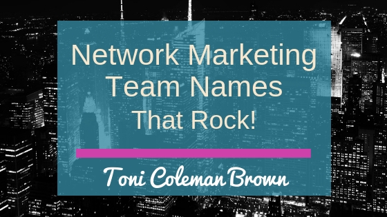 Network Marketing Team Names That Rock